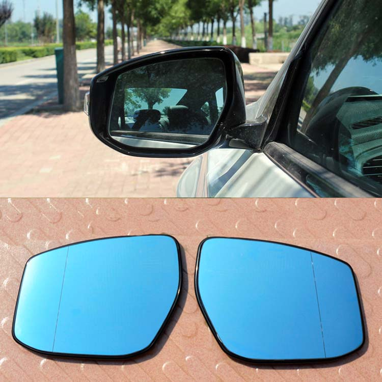 Ipoboo 2pcs New Power Heated w/Turn Signal Side View Mirror Blue Glasses For Nissan Teana