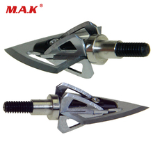 3/6/12pcs Broadheads 100 Grain Aluminum Arrowhead Tips for Fiberglass Arrow Carbon Shooting Hunting Archery