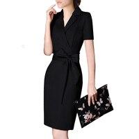 Formal Long Blazer Bandage Dress womanOffice Cotton Pencil Bodycon Dress Pencil Work Woman Dresses New Arrival 2018 40Q016