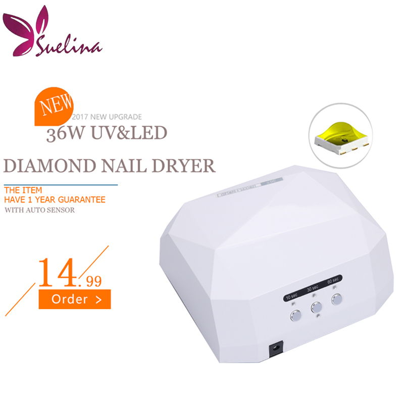 Special Touch Lamp 36W Diamond LED+UV Nail Dryer 10Sec 30s 60s Quick-drying Lamp With Sensor FREE SHIPPING