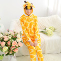 Spring Cartoon Cute Giraffe Animal Pajamas Full Sleeved Suit Adult Men And Women Adult Cotton Cute Couple Sleepwear