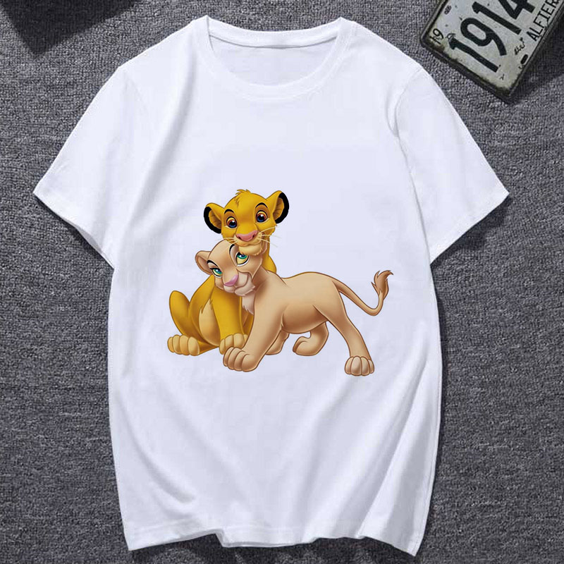 Lion King Cartoon   T     Shirt   Women 2019 New summer Fashion   T  -  shirt   Casual Harajuku Graphic Tshirt Female cute Tee tops Clothing