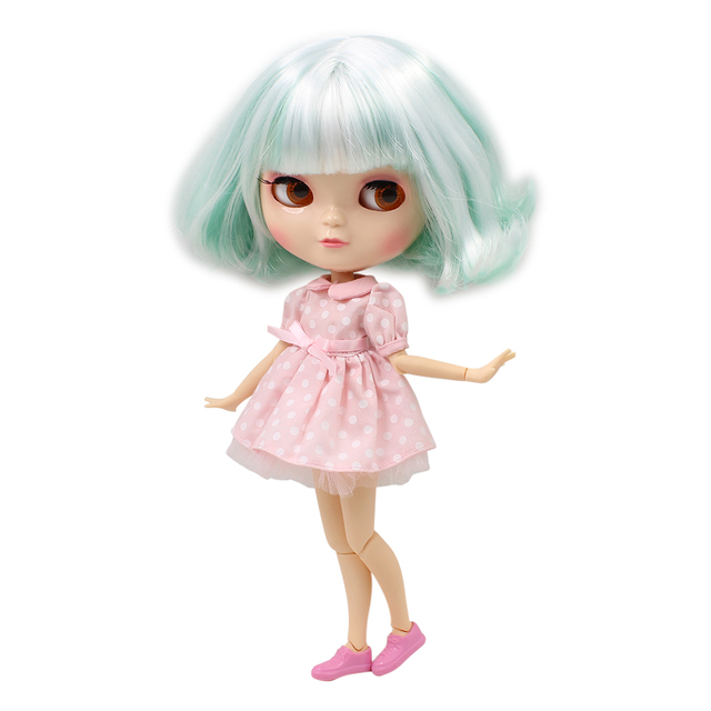 ICY DBS doll Nude Doll Joint Body SMALL chest Mint mix White hair same as factory blyth Fortune Days F&D No.130BL136/4006