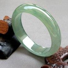 Браслет с натуральным нефритом Бирма нефритовый браслет светло-зеленый нефритовый браслет виды льда Аква