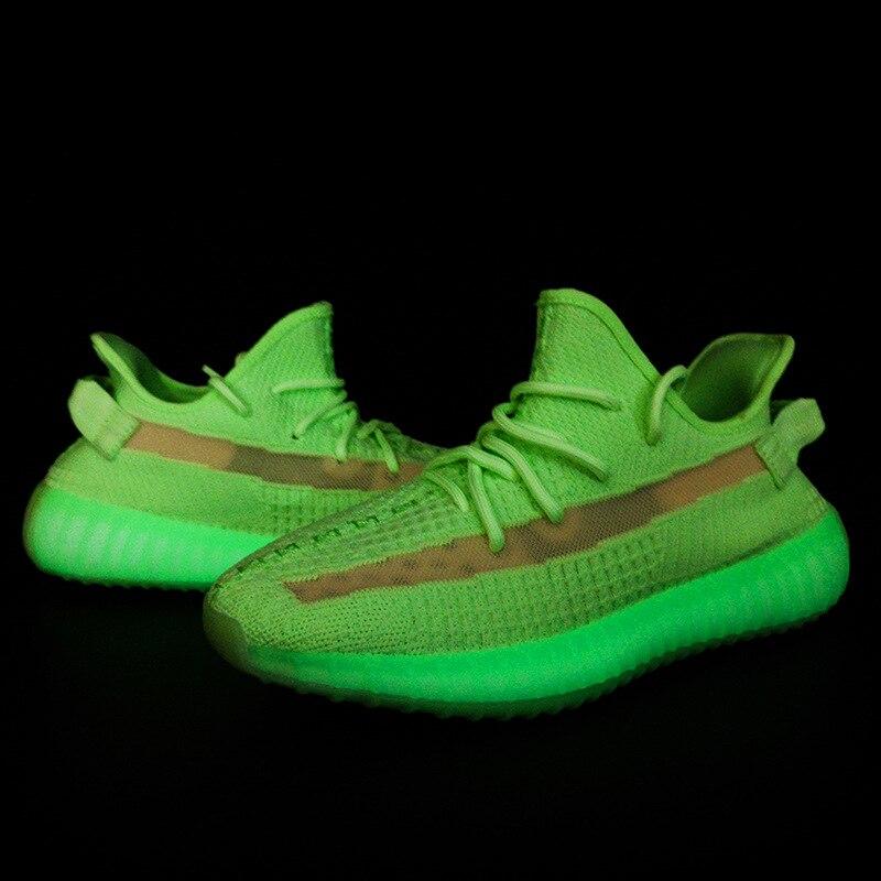 Hommes été chaussures décontractées respirantes Couple baskets Yee zi 350 respirant Air maille chaussures Boost medusa chaussures V2 zapatos de hombre