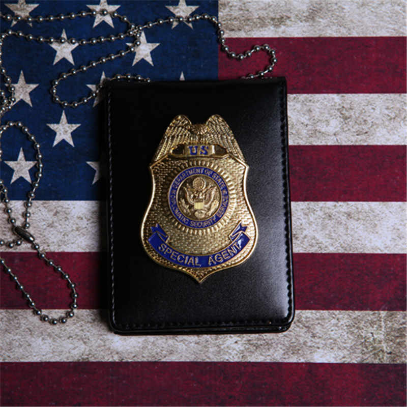 1pcs Fast & Furious 5 Police Special Agent Officer Badges Card ID Cards Holder with Chain 1:1 Gift Fast Five Cosplay Collection