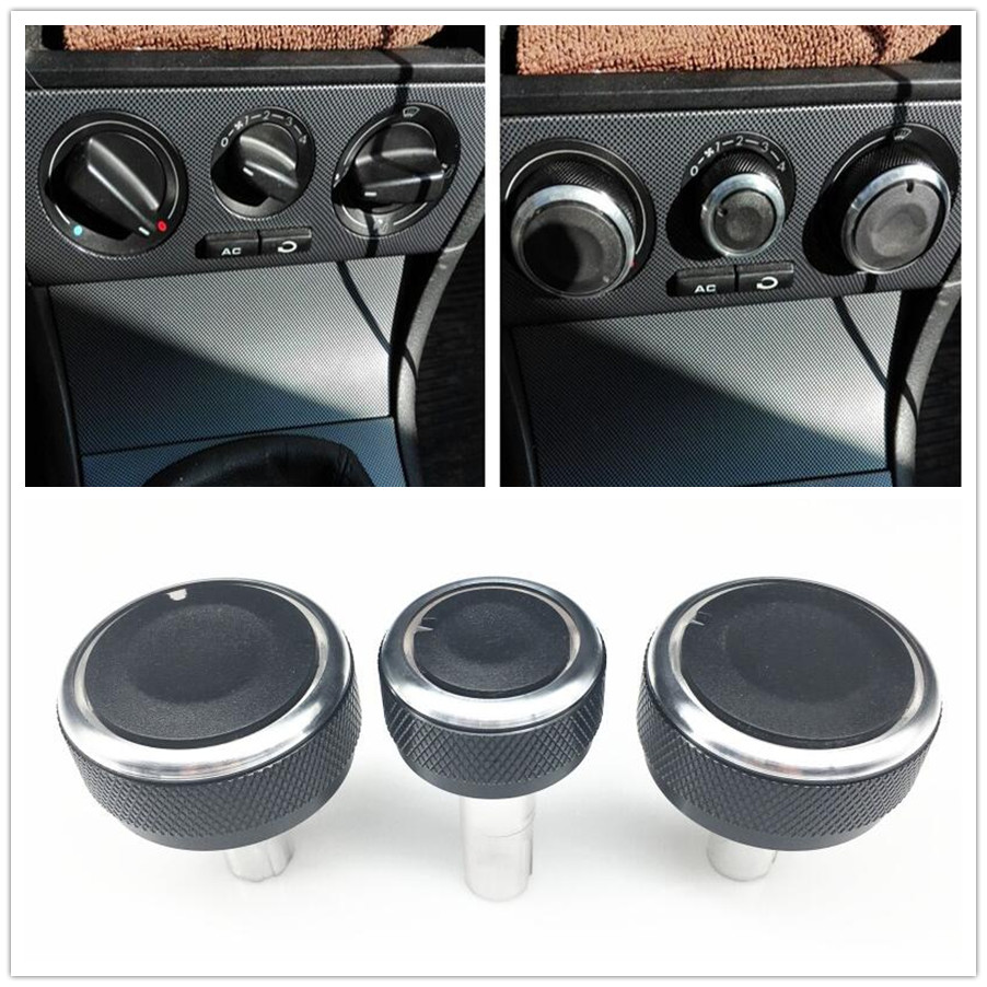 3PCS Air Conditioning Knob Car Air Conditioning Heat Control Switch Knob For Skoda Superb Octavia MK1 AC Knob Auto Accessories