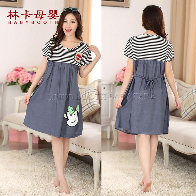 Vestido de maternidade das Mulheres Túnica de Manga Curta O Pescoço Stretchy Bodycon Grávida Camisa Vestidos Vestidos Plus Size
