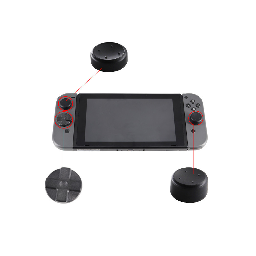 Alternative D-Pad Dpad Button Direction Key Cross Button For Left Joy-con With 4pcs Thumb Grips For Nintend Switch Nintendo NS