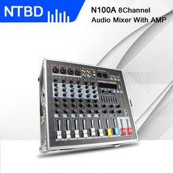 NTBD Audio Portable Mixer Sound Console High Power Integrated Power Amplifier Mixer 8 Channel 16 Kinds of Digital ECHO Party DJ