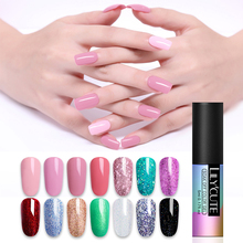 LILYCUTE Rose Pink UV Gel Nail Polish Pure Color Coat Soak off LED DIY Art Varnish  Red Manicure 5ml