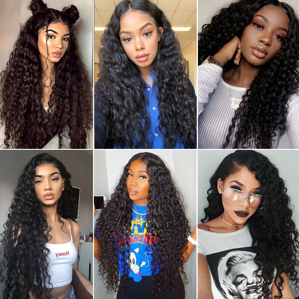 Careful Abijale Water Wave Wig 150% Density Peruvian Remy Hair Bob Wig Lace Front Human Hair Wigs For Women Pre-plucked Latest Fashion Human Hair Lace Wigs