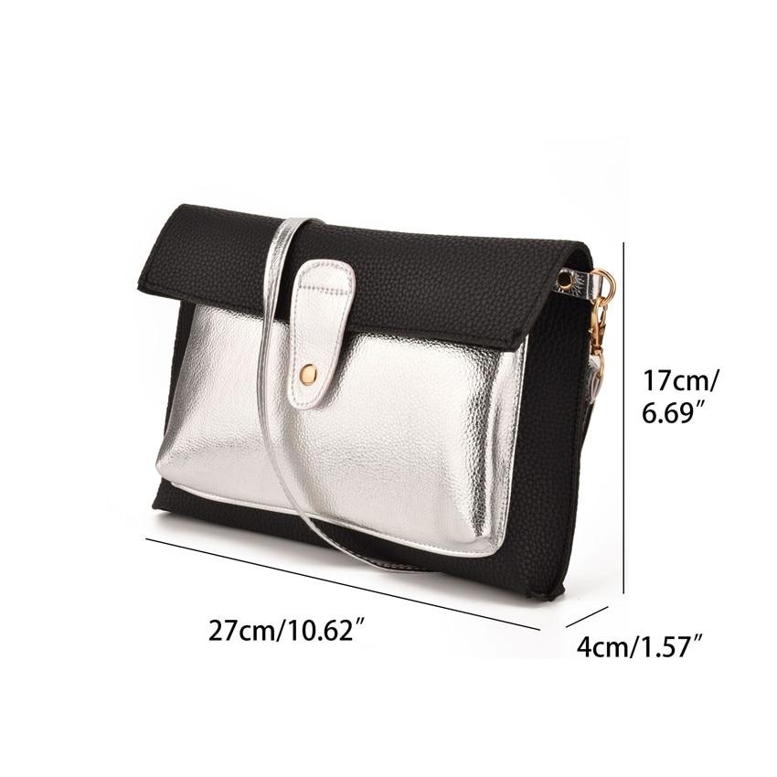 864004db29c7 JIARUO Hit Color Leather Envelope Handbags Crossbody bag For Women Shoulder  bag Messenger bags Zipper Design Vintage Purses-in Shoulder Bags from  Luggage ...