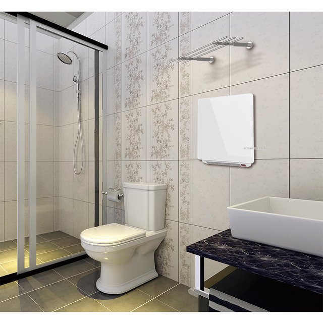 Winter 1500W Timer Bathroom Infrared Fan Heater With Towel Racks Wall  Mounted Electric Heating Panel Heater
