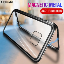 KINBOM Luxury 360 Metal Magnetic Phone Case For Huawei Mate 20 Pro Lite X 10 Full Anti-shock Shell Glass Back Cover