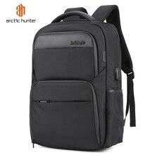 حقائب ظهر مضادة للسرقة مضادة للصدمات للرجال مزودة بوصلة USB مضادة للماء مقاس 15.6 بوصات حاسوب محمول أسود حقائب سفر متعددة الوظائف