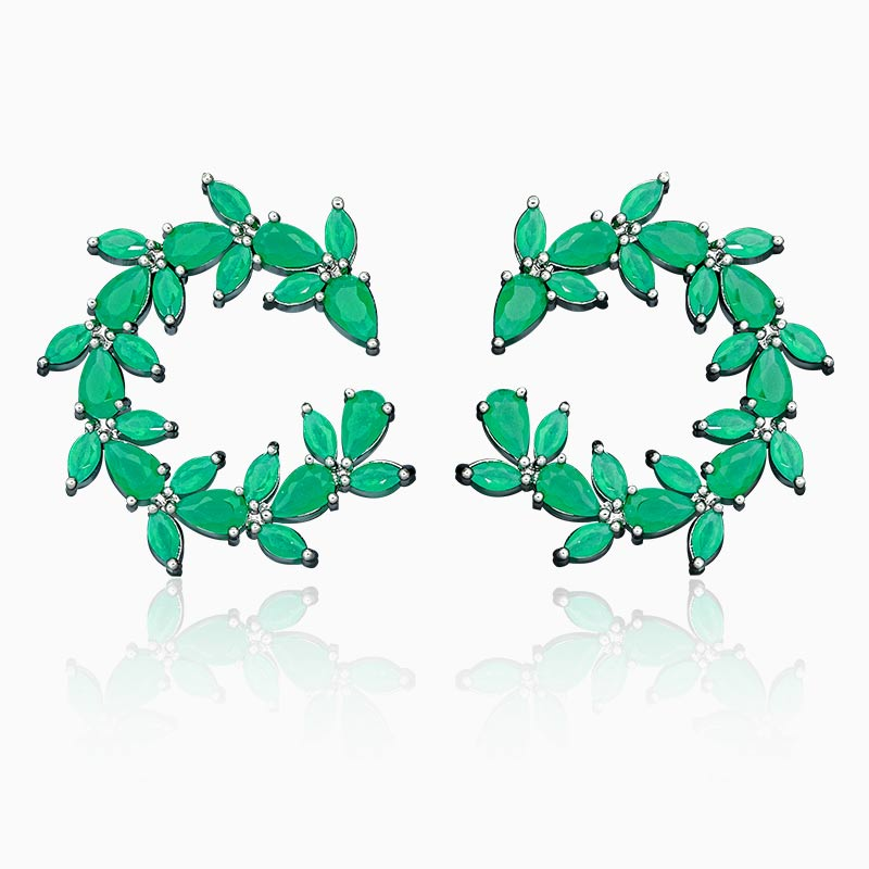 Buy Newness Luxury Cubic Zirconia Copper Delicate Leaf Elegant Jewelry Earrings Party Wedding Bridal For Women for only 16.34 USD