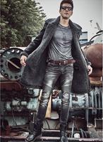 High Quality 2017 Winter Man S Leather Coat Sheep Leather Jacket Man Genuine Leather Coat Men