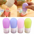4 de Silicona de color de Viaje Moda Mujeres Herramientas de Maquillaje Loción Cosmética Botellas Rellenables Botella Portátil Y2