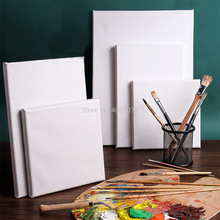 10 Pieces Cotton Wood Frame For Canvas Oil Painting Artist Painting Canvas Blank Cotton Canvas Panels Square Mounted Wholesale