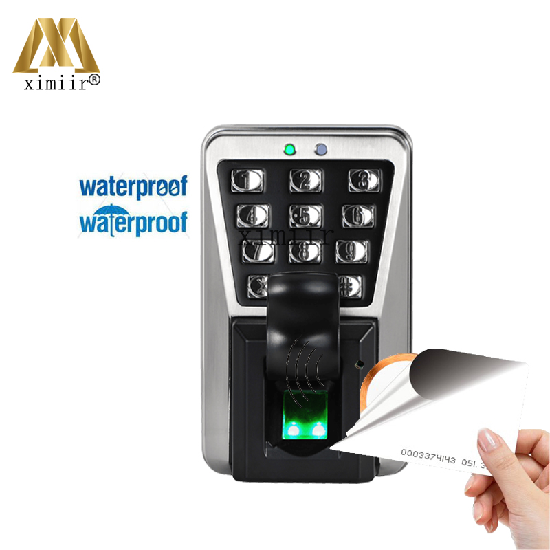 ZK IP65 MA500 Good quality Biometric Waterproof Fingerprint Door Access Control With 125KHZ RFID Card Reader Free Shipping zk tf1700 ip65 waterproof biometric fingerprint access control system 125khz rfid card access controller with rj45 communication