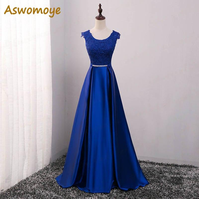 ed129874b Oro sirena vestido de noche 2019 escote alto cristales cordón formal de mujer  vestidos vestido de