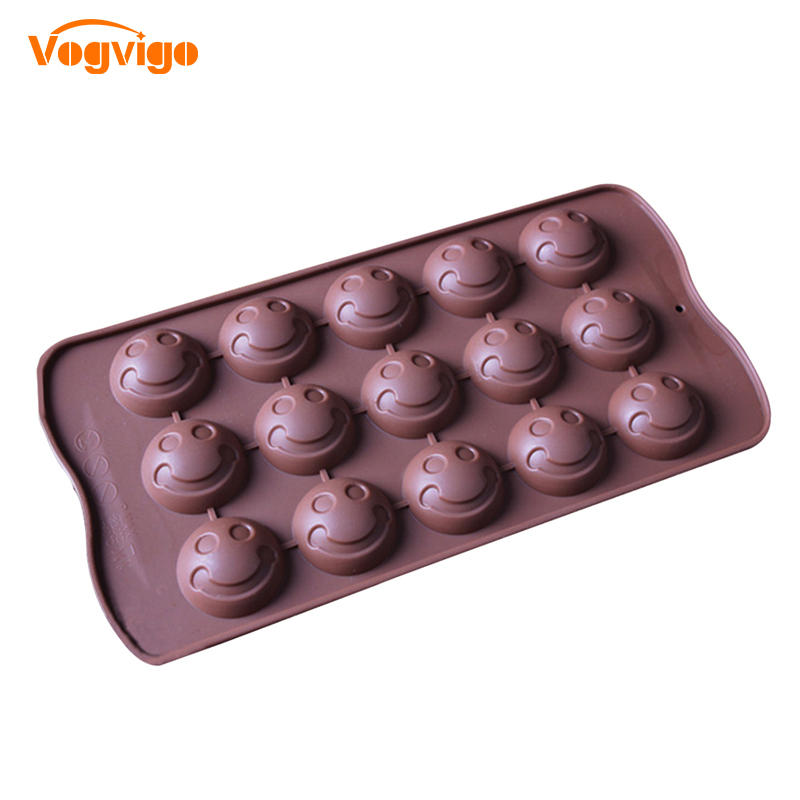 VOGVIGO Expression Silicone Chocolate Molds Smiling Face Shape Cake Decorating Tool Cookies Jelly Ice Mold