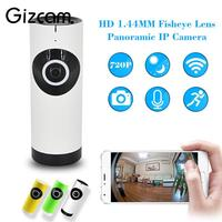 720P WIFI Network CCTV 180 Degree Fisheye Home Security IP Camera Night Vision Cam Webcam Micro