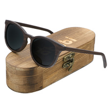 Ablibi Handmade Brand Wood Polarized Sunglasses Women Men Design Driving Wooden Mirrored Shades in Wood Grained Box