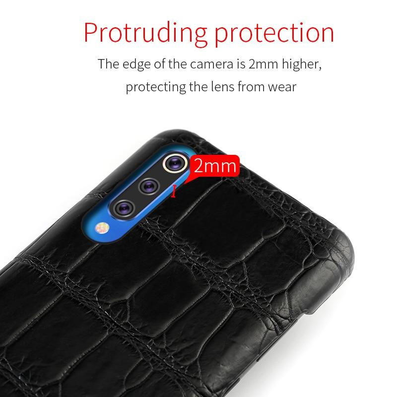 100% Oraginal Crocodile Leather Case For Xiaomi Mi 9T pro 9 9SE 8 SE Lite Cases For Redmi K20 pro note 7 4x 5Plus cover Luxury - 3