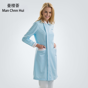 professional medical gown uniform ladies long sleeve frosted clothes nurse beauty work clothes winter