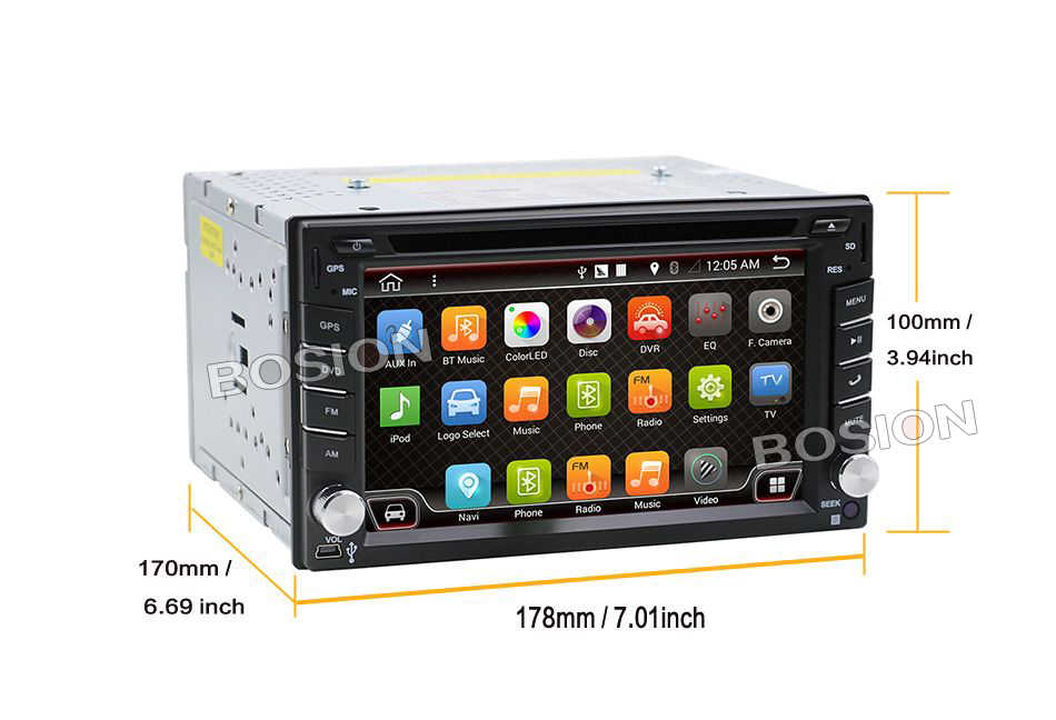 Evrensel 2 din Android 10.0 araç DVD oynatıcı oynatıcı GPS + Wifi + Bluetooth + radyo + 32GB CPU + DDR3 2GB + kapasitif dokunmatik ekran + 3G + araba pc + ses