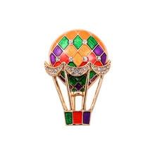 Beautiful sell like hot cakes Rhinestone fashion new balloon drop glaze enamel delicate high-grade brooch