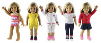 5 Set Doll Clothes For 18 American Girl Doll Handmade Casual Wear Clothes