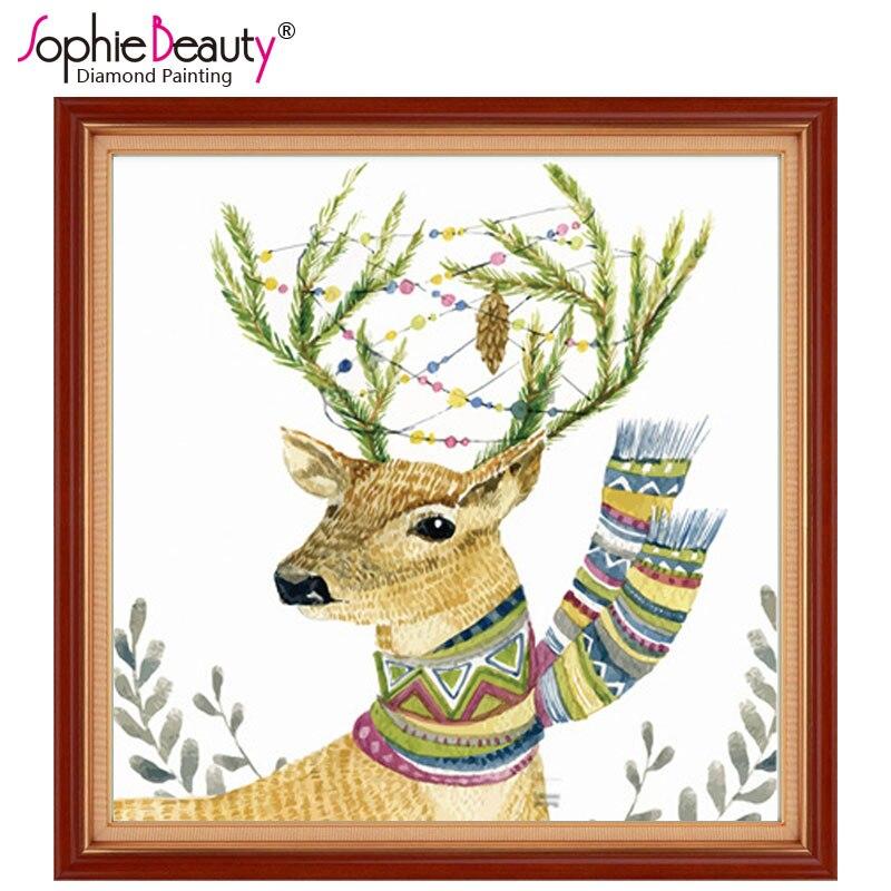 Beaded Embroidery Kit Deers DIY Beaded needlepoint Beaded stitching Beadwork