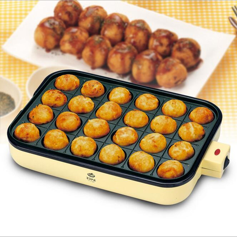 220V Multifunctional Non-stick Electric Takoyaki Grill Machine Household Electric Frying Pan Iron Squid Octopus Balls Maker commercial non stick 110v 220v electric 25pcs japanese octopus ball takoyaki grill machine