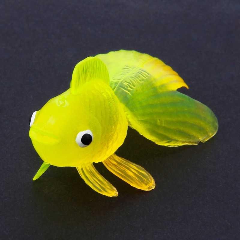 Забавные 20 шт. резиновые Моделирование маленькая золотая рыбка золотые рыбы детские игрушки украшения игрушки для ванной забавные