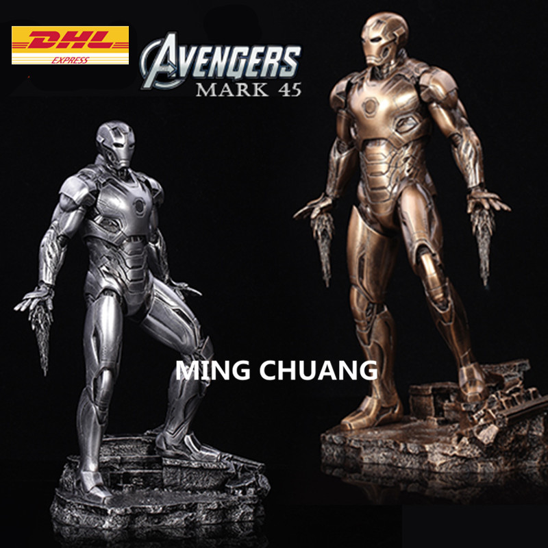 Avengers infinity war Statue Iron Man mark45 Bust 1:6 full-length portrait Resin Action Figure Collectible Model Toy 33CM statue avengers superhero hulk 1 4 bust robert bruce banner full length portrait resin imitation iron collectible model toy w236