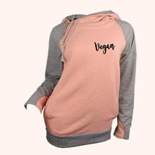 Fashionable women's VEGAN hooded sweatshirt / 6 Colors