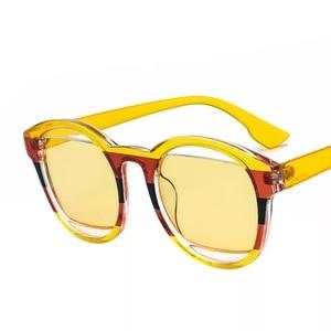 Image 2 - 女性のファッション安いオーバルサングラス緑青黄赤ラウンドビーチデザイナーシェードケースで販売のための女性運転メガネ