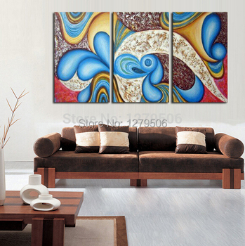 Hand Painted Abstract Oil Paintings On Canvas Goutte Hang Picture For Living Room Wall Decor Paintings