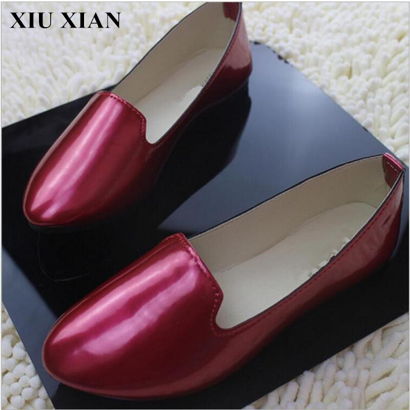 2017 Spring Autumn Women Pointed Toe Flats Comfortable Low Heel Summer Flats Shoes Slip-on Ankle Flats Solid Casual Single Shoes spring summer women leather flat shoes 2017 sweet bowtie flats women shoes pointed toe slip on ladies shoes low heel shoes pink