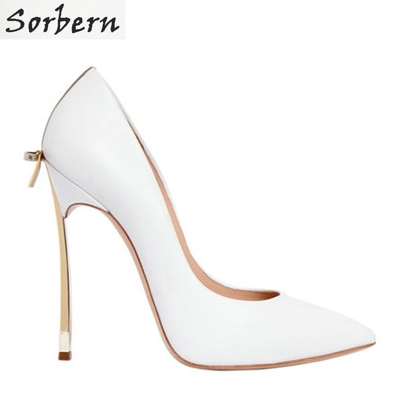 Real Women Pumps Thin High Heels Ladies Party Shoes Slip On Butterfly-Knot Cheap Modest Zapatos Mujer Sorbern Wedding Shoes Sexy cicime women s heels thin heel spikes heels solid slip on wedding fashion leisure casual party dressing high heel platform pumps