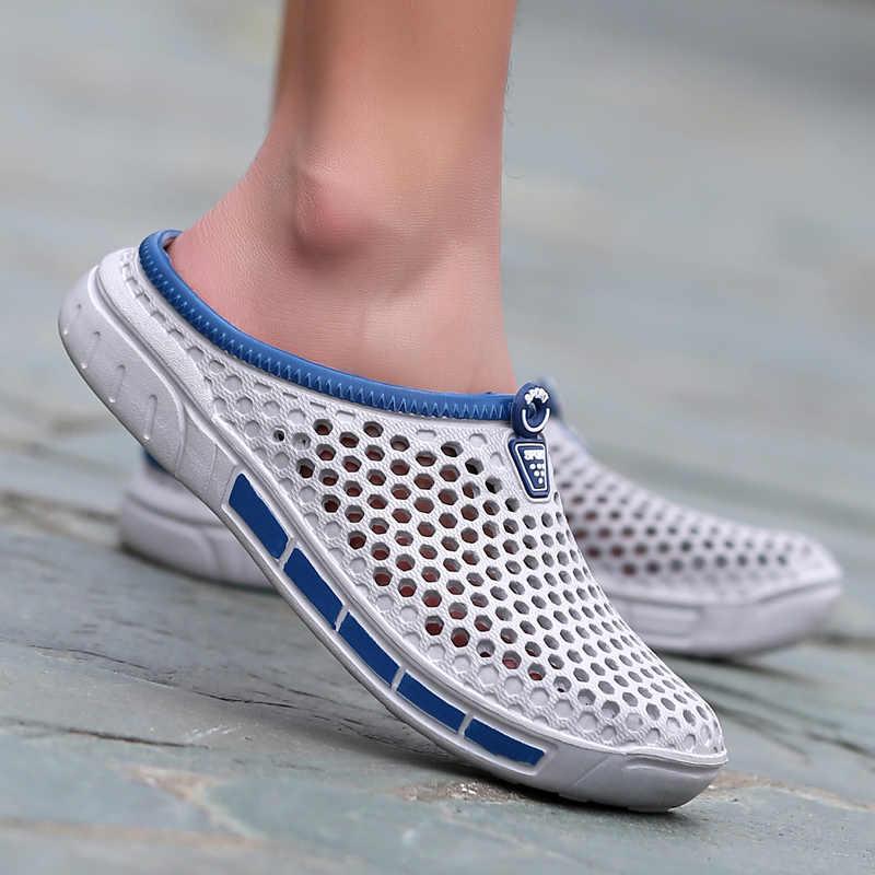 2018 Zomer Mannen Mode Sandalen Toevallige Slippers Schoenen Ademend Outdoor Strand Sandalen Flats Water Sandalias Zapatos Flip Flops