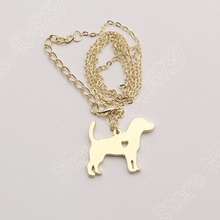 Beagle Dog Gold and Silver Plated Pendant Necklace – FREE Christmas Offer