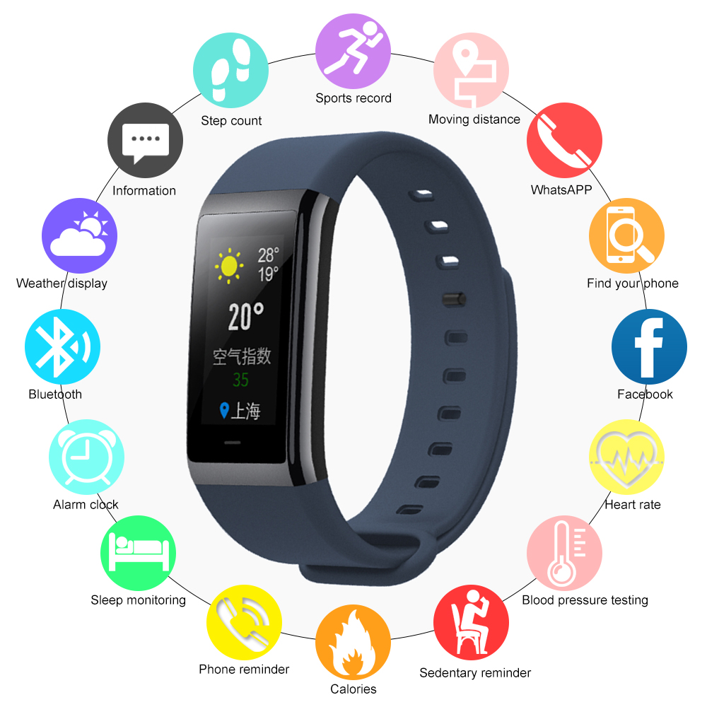 Xiaomi Huami Amazfit Cor MiDong Band Enliglish Version Smart Wristband Heart Rate Montor Bracelet Bluetooth Waterproof