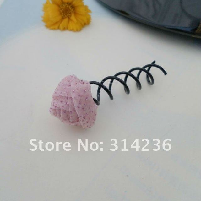 W-8 spiral hair clip spiral hairpin Flower Black Spin Pin / Clip for Buns & Simple Styles 2pcs/lot