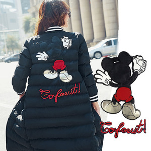 Sew on Clothing Patches Fashion Embroidery Sequins Cartoon Mickey Badges Apparel Garment Bags T-shirt DIY(China)