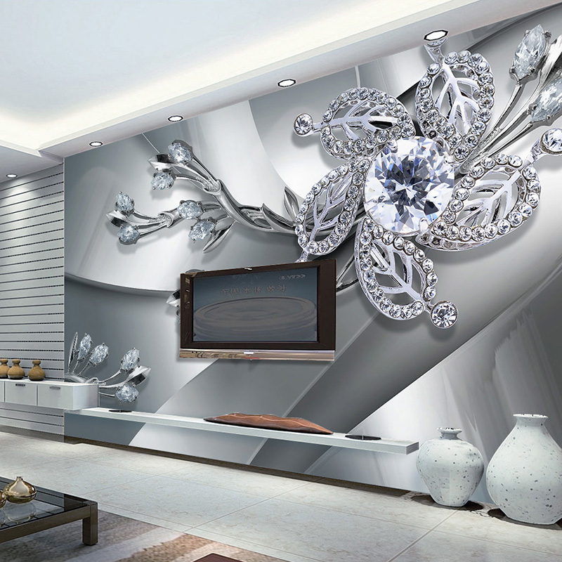 Cool Metal Jewelry Background Wall Mural 3D Stereo Embossed Luxury Wallpaper Living Room Hotel Room Landscape Papel De Parede 3D  free shipping basketball function restaurant background wall waterproof high quality stereo bedroom living room mural wallpaper