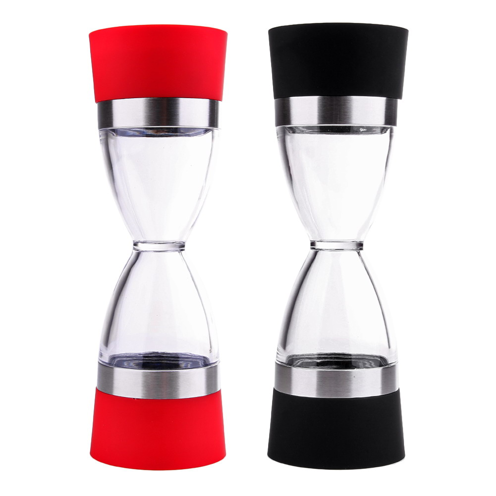Stainless Steel Manual Salt Pepper Mill Grinder Grind 2 In 1 Ceramic CorePortable Kitchen Mill Muller